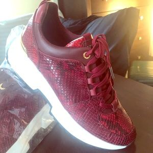 Michael Kors Snake Embossed Cosmo Leather Trainer